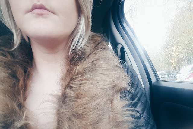 brave soul faux fur collar cardigan