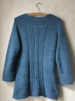 cabled cardigan sweater knitting pattern