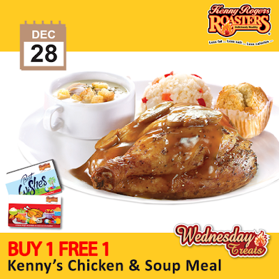 Kenny Rogers ROASTERS Malaysia Buy 1 FREE 1 Kenny's Chicken & Soup Meal
