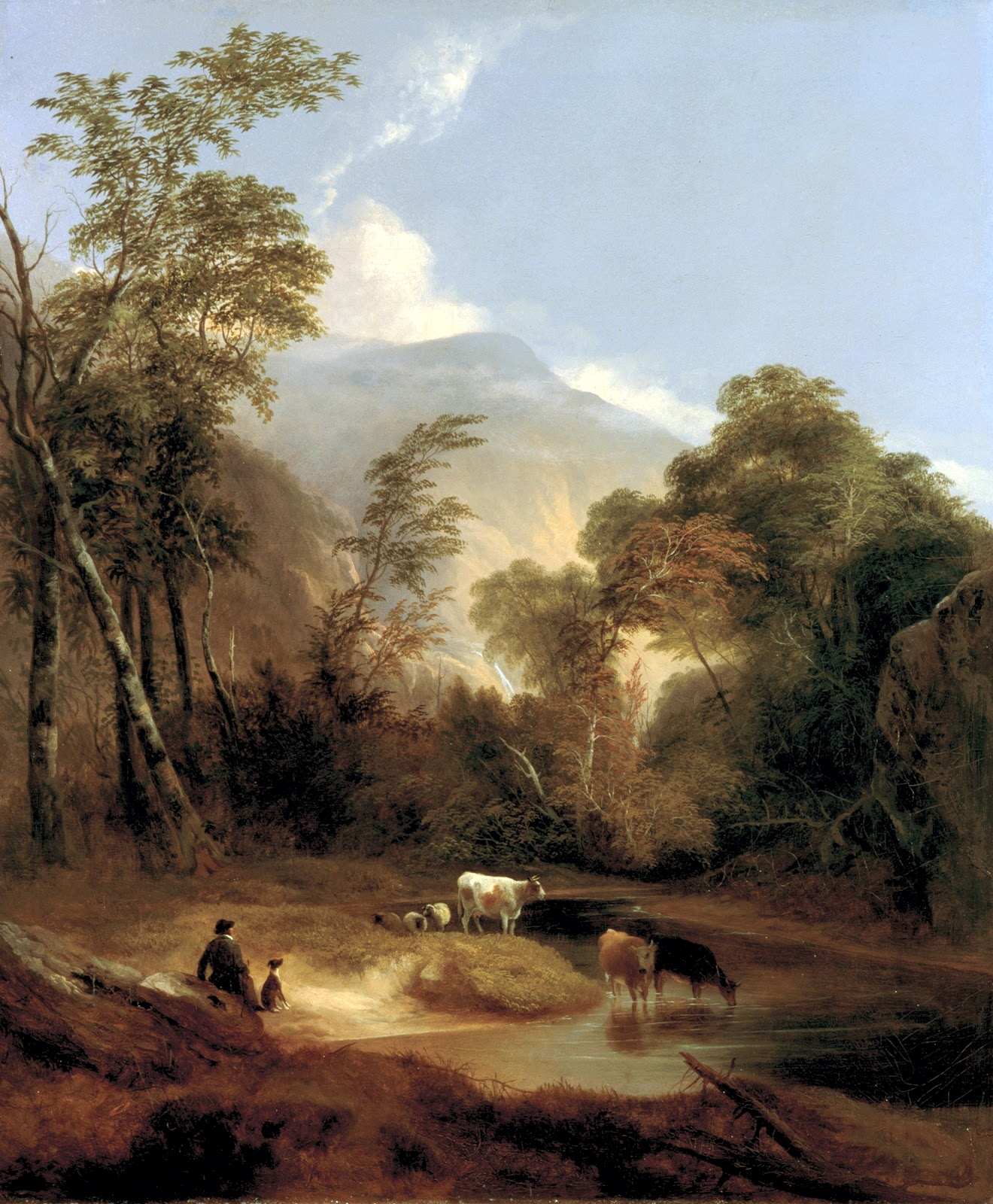 American Paint And Wallpaper Fall River 19th Century American Paintings Hudson River School