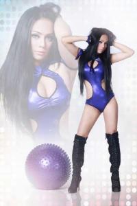 Foto Dj Olive Purple seksi dan cantik