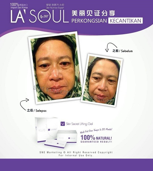 testimoni la' soul lifting gel 32