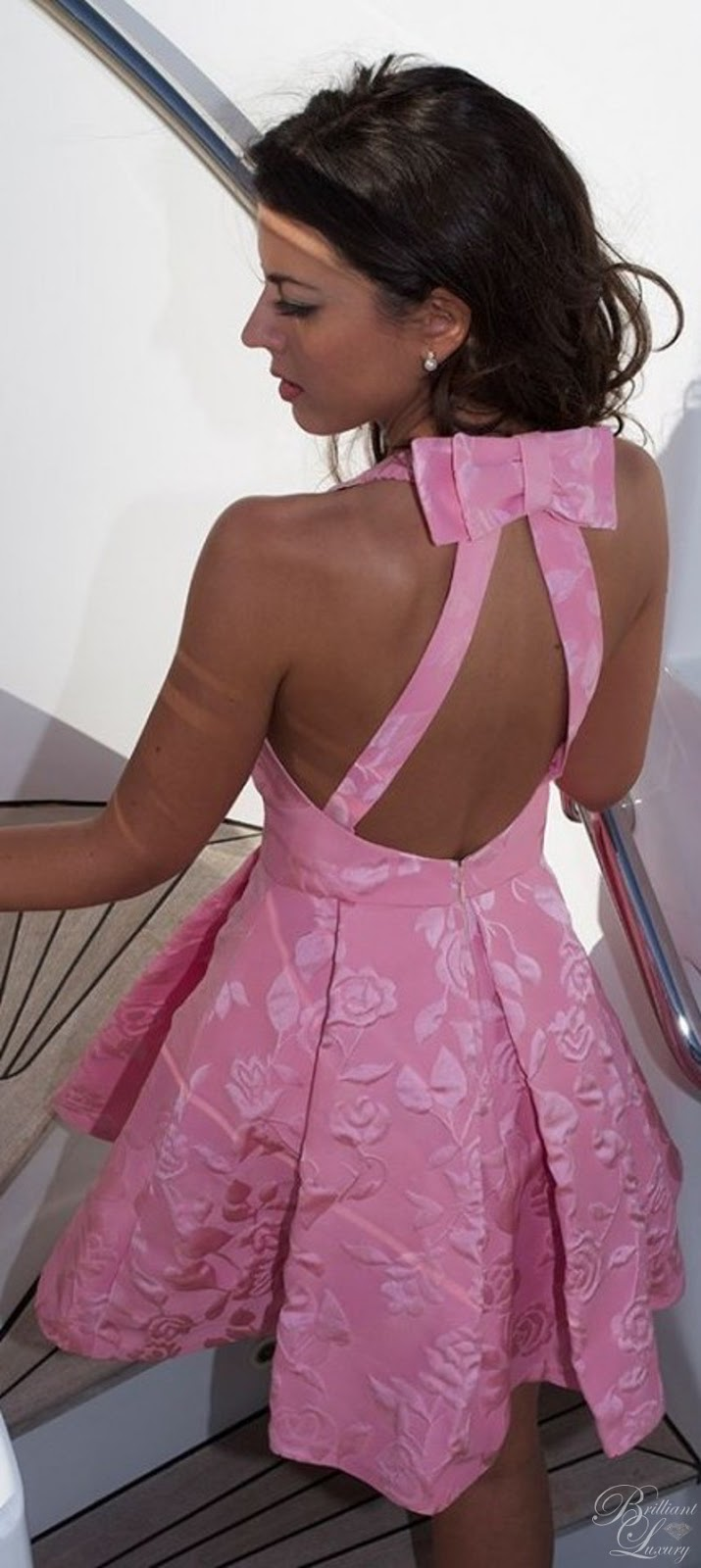 Brilliant Luxury ♦ Silvia Navarro pink Violeta backless dress