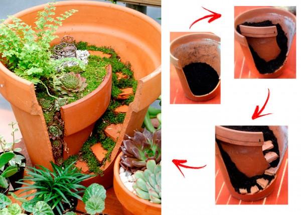 Transformando vasos quebrados em belos mundos de contos de fadas ... d5d6479797b7e