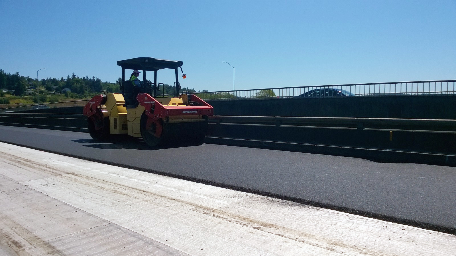 crews from the july 21 22 weekend closure laid down a layer of asphalt on