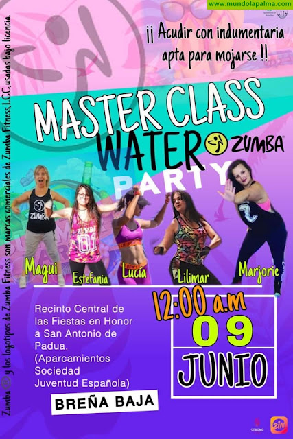 "FIESTA SAN ANTONIO DE PADUA: Master Class ""Zumba WATER Party"""