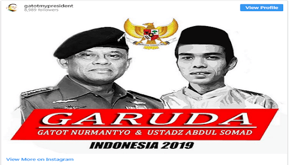 Viral Foto Gatot-Ustaz Somad Untuk Indonesia 2019