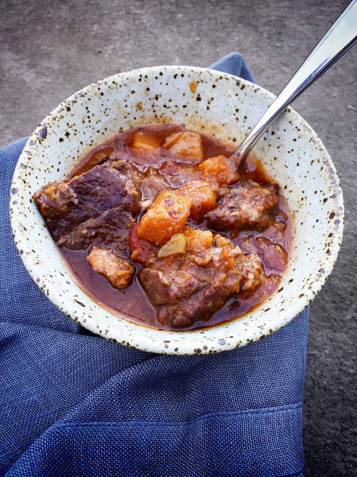 Morsels Sauces Lamb Stew With Winter Squash In The Hour Of The