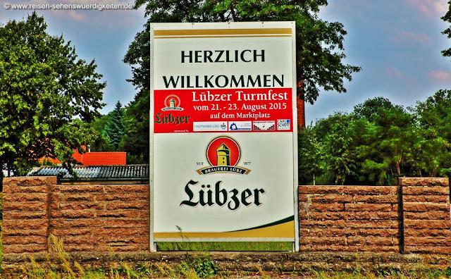 Willkommen in Lübz, Lübzer Bier, Turmfest Lübz