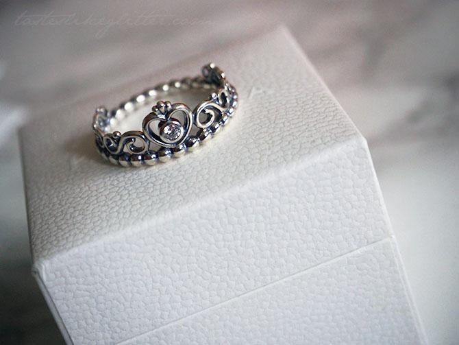 Pandora Princess Tiara Ring Tastes Like Glitter