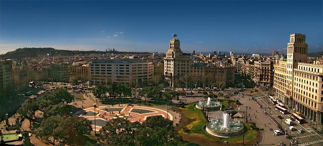 Plaça Catalunya em Barcelona