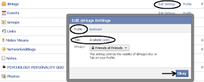 Edit Settings of a Facebook Application