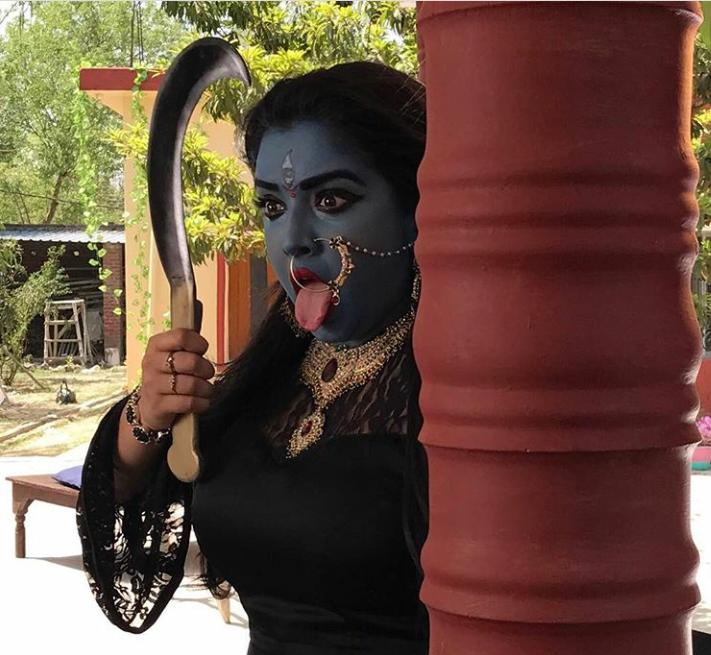 Amrapali Shooting Stills in film photo