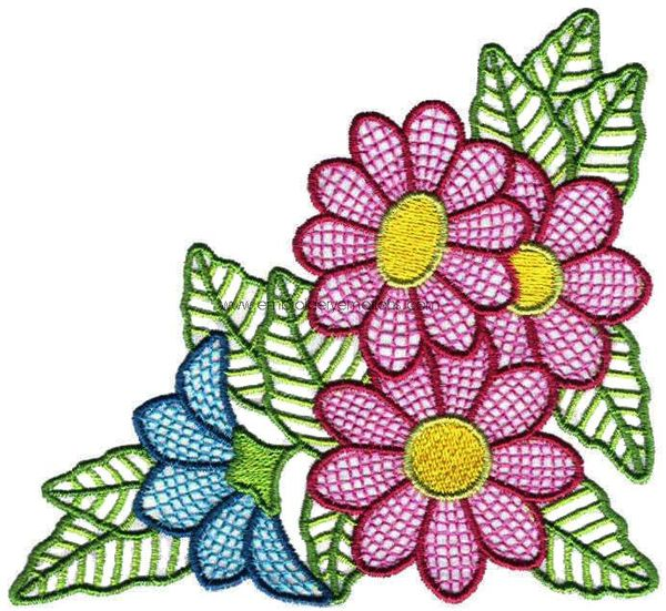 Embroidery Designs 43 Fancy Flower Designs