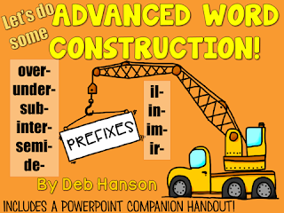 Advanced Prefixes PowerPoint... reviewing 5 basic prefixes and introducing 9 additional prefixes!