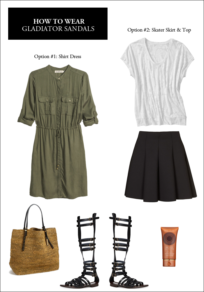 gladiator sandals, spring trends, how to wear shirtdress, nordstrom looks, ask a stylist