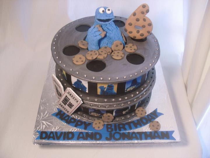 Made Fresh Daily Cookie Monster Film Reel Birthday Cake