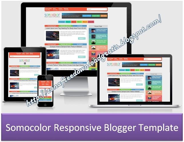 Somocolor Responsive Blogger Template