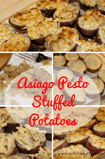 Asiago Pesto Stuffed Potatoes
