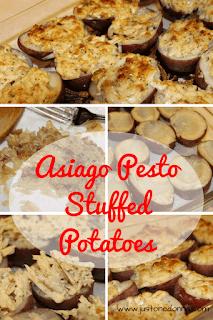 Asiago Pesto Stuffed Potatoes