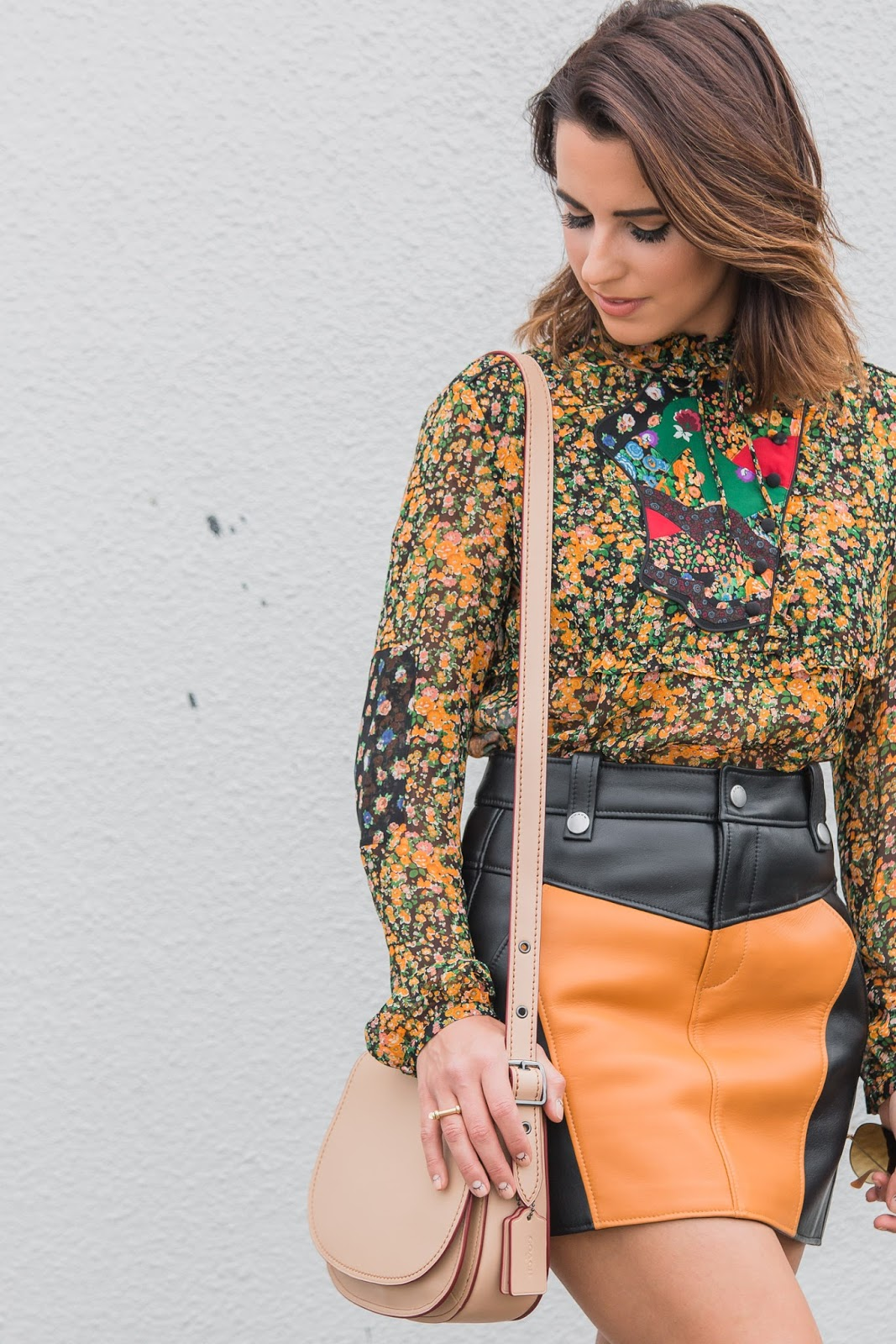 coach-1941-spring-floral-blouse-leather-skirt-fashion-fashion-logger