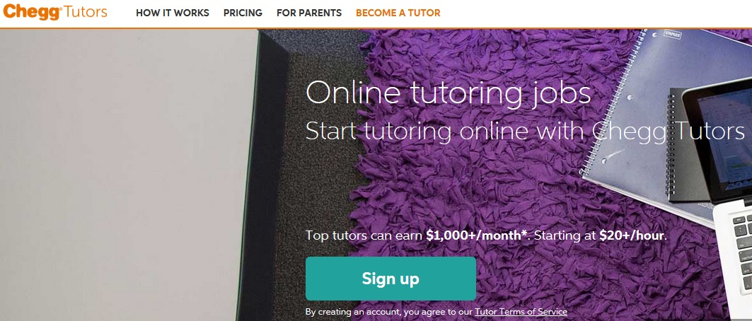 Any student can rent textbook and contact tutor through CheggTutoring.