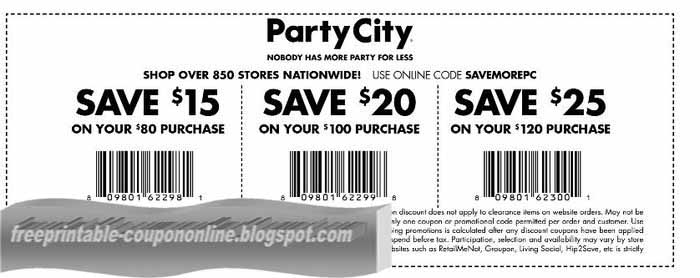 photo about Party City Coupons Printable identify Bash metropolis discount coupons printable 2019