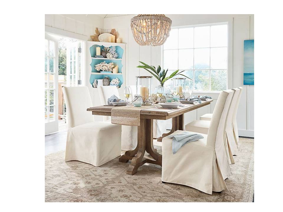This Double Pedestal Table From Pottery Barn Is Made Of Mango Wood And Has  Lovely Gray Wash. This Pine Table From World Market Has A Similar Look.