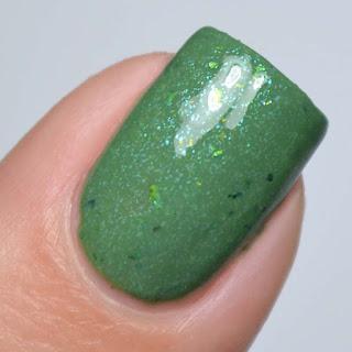 olive green nail polish