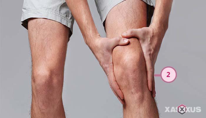 Letak kedutan lutut kiri belakang
