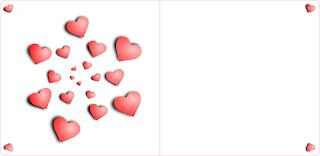 Hearts Spiral Postcard Vector Graphics Image