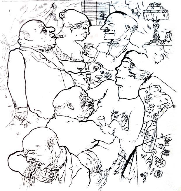 George Grosz, Il volto della classe dirigente - Berlino 1921