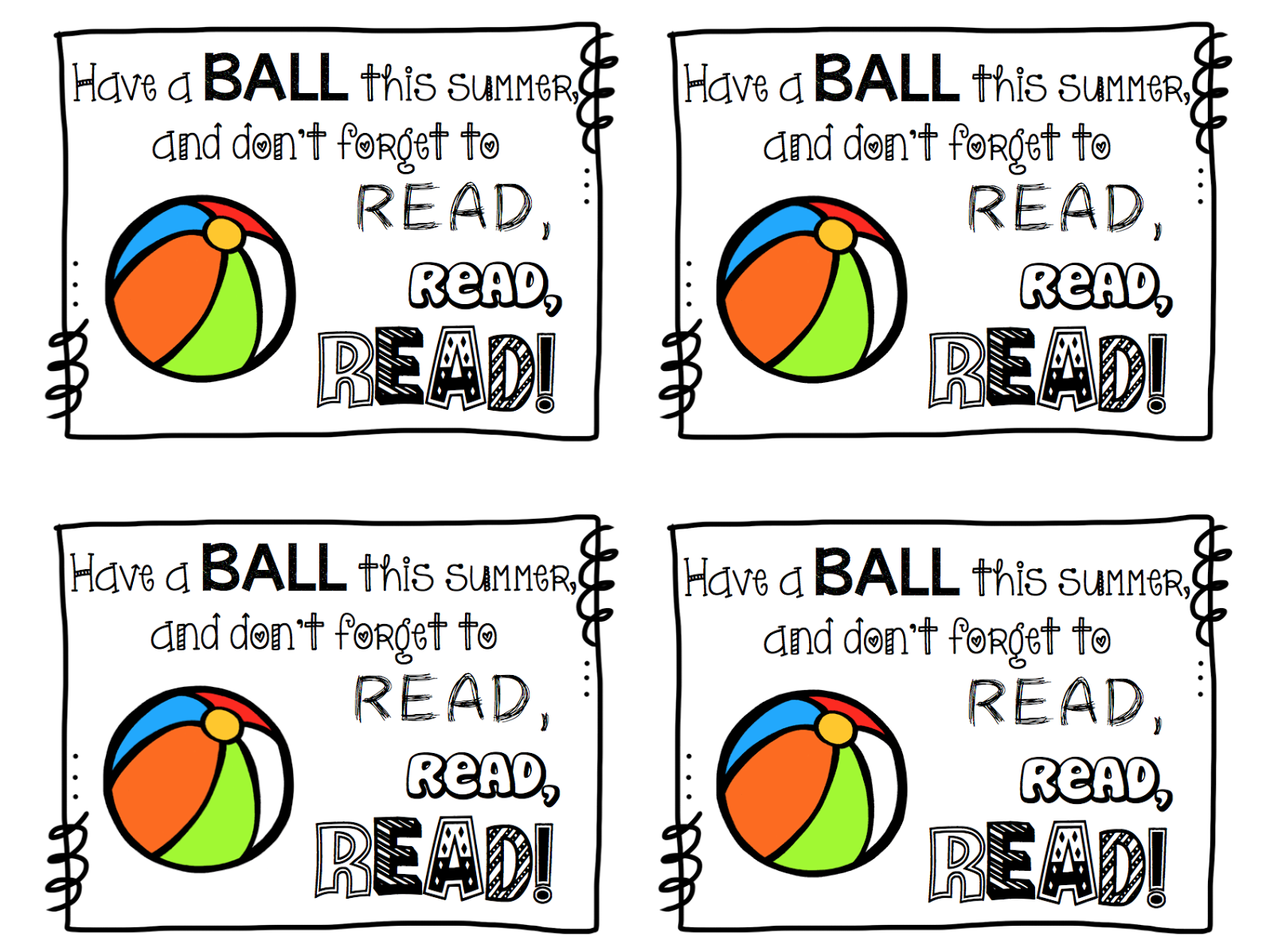 photo relating to Have a Ball This Summer Printable titled Incorporate a BALL this summer time! TheHappyTeacher