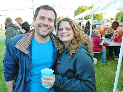 Me and a festival goer at the Testicle Festival