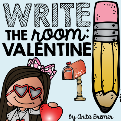 Valentines Day activities for Kindergarten, including Write the Room!