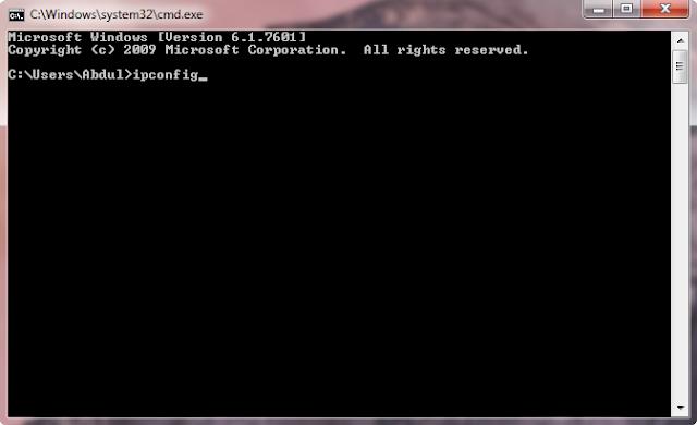 Cara cek IP Address dengan CMD