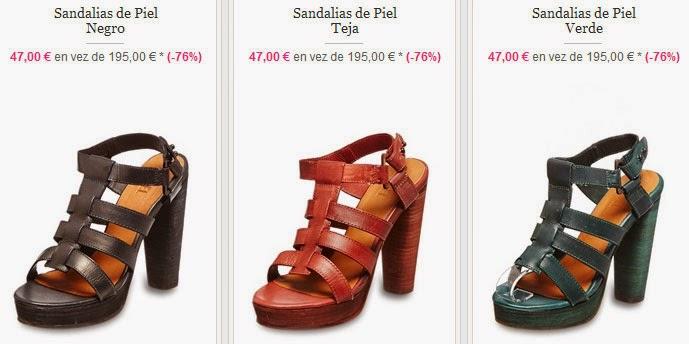 Ejemplos de sandalias marca Diesel por menos de 50 euros