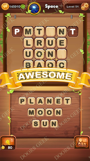 Word Bright Level 51 Answers, Cheats, Solutions, Walkthrough for android, iphone, ipad and ipod