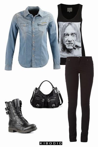 chemise en jean, look 1