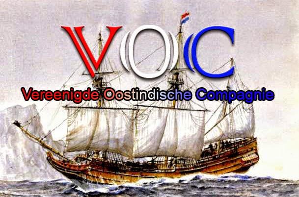 Gambar ilustrasi kapal dagang VOC
