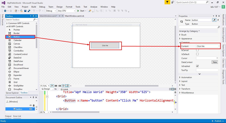 Xaml Visual Basic Tutorial Hello World Xaml – Fondos de Pantalla