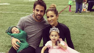 Eric Decker C His Wife Jessie And His Two Kids