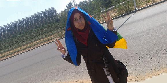 الطالبة هجر الوارث  Hajar El Ouarit