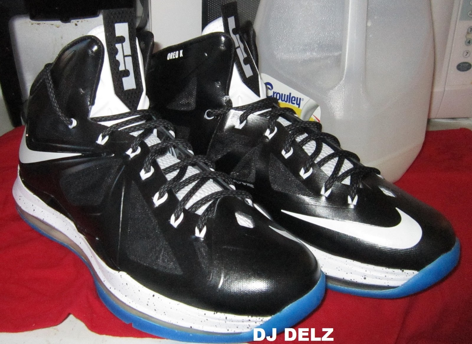 timeless design 975a9 c9c53 Here is some detailed images from Dj Delz s newest creation, the 2013 Nike  Lebron 10 Oreo X Sneaker Designed By Dj Delz , got love that blue outsole  taking ...