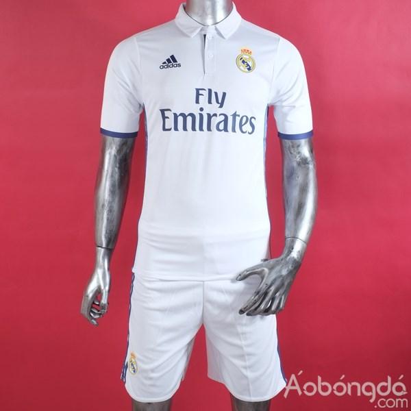 Bộ áo bóng đá siêu cấp Real Madrid sân nhà 2016/17 tại aobongda.com