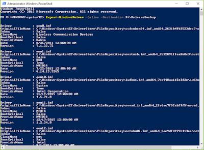 كيفية حفظ نسخة إحتياطية من جميع تعريفات جهازك Drivers بدون برامج ويندوز 8