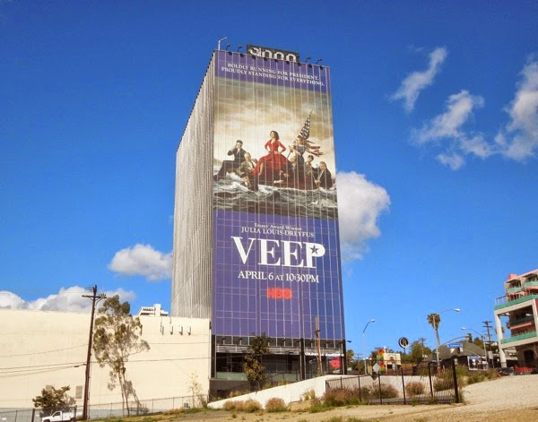 Giant Veep season 3 billboard