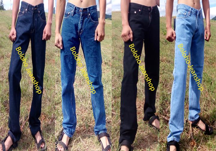 Celana jeans standar pria