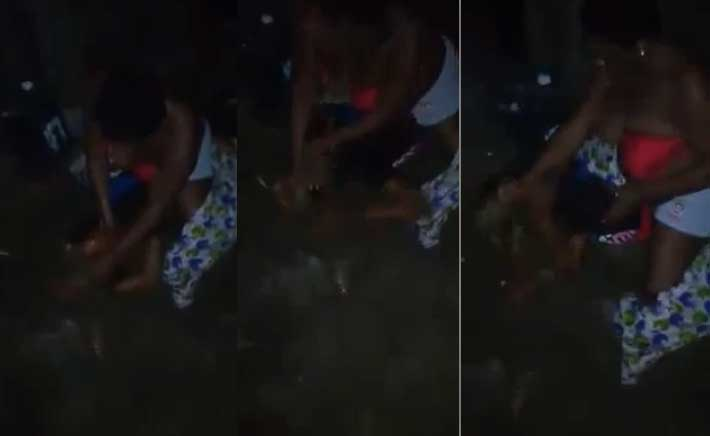 Video: Yoruba woman nabs Edo girl sleeping with her husband in Abidjan