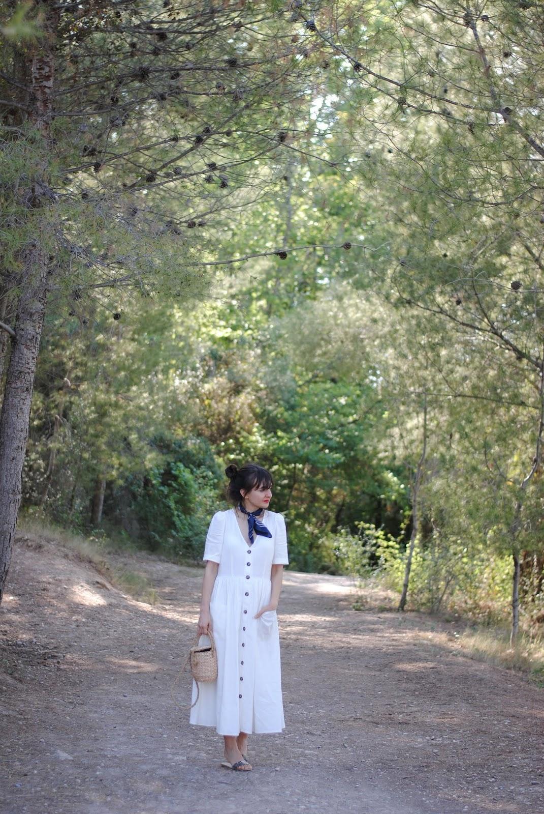 Vestido lino midi Zara